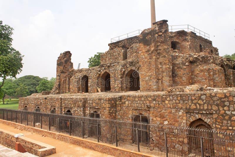 Ashokan Edict i Delhi Indien royaltyfri fotografi