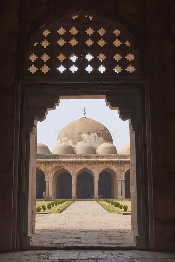 Ashrafi玛哈尔清真寺在Mandu,印度 库存照片