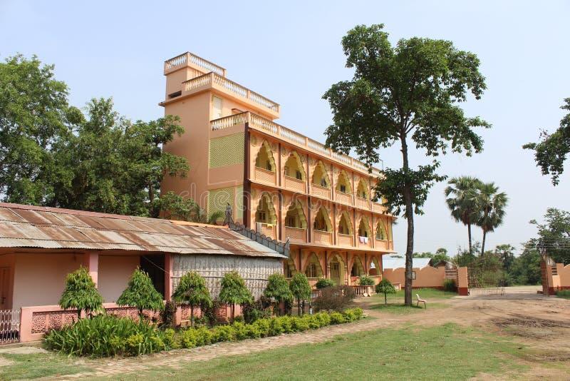 Ashram indio del campo (parador religioso) imágenes de archivo libres de regalías