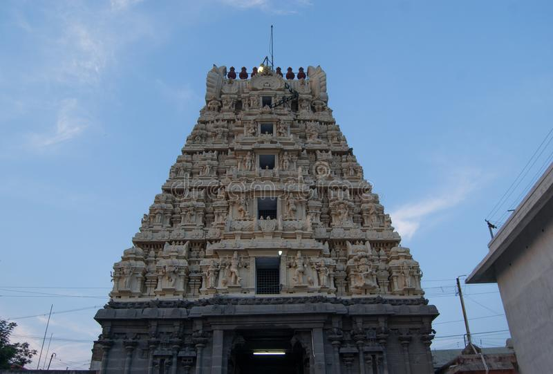 Ashtabujakaram is a Hindu temple in Kanchi. Located in the South Indian state of Tamil Nadu, is dedicated to the Hindu. Ashtabujakaram is Hindu temple in Kanchi royalty free stock photos