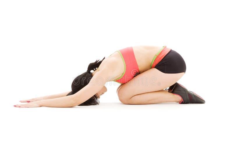ashtanga postury ćwiczyć kobiety joga obraz stock