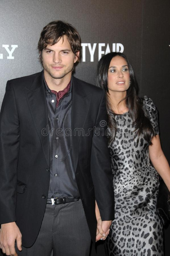 ashton demi kutcher moore 库存照片