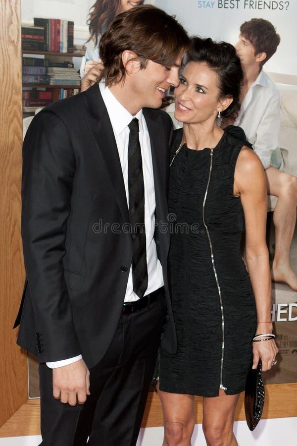 Ashton & Demi Kutcher Moore zdjęcia stock