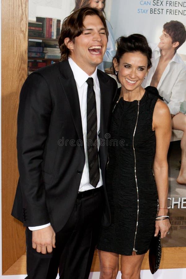 Ashton & Demi Kutcher Moore zdjęcie royalty free