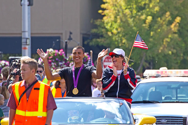Download Ashton Eaton Olympian Homecoming Parade Editorial Stock Image - Image: 26762274