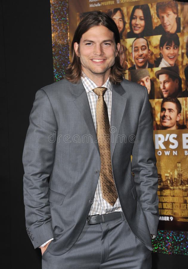 ashton kutcher fotografia royalty free