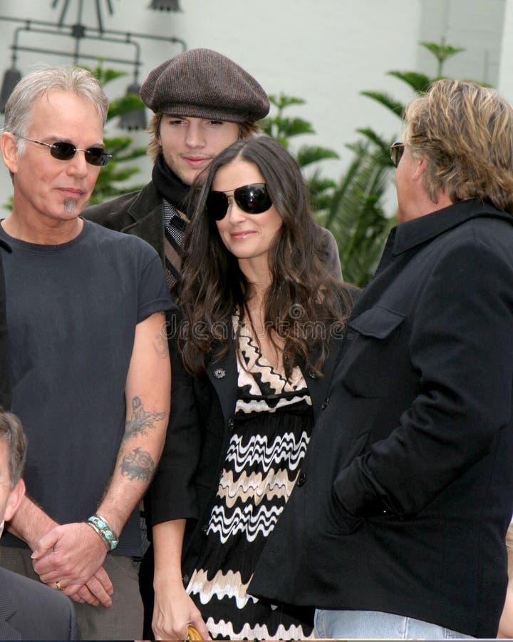 Ashton Kutcher, Billy Bob Thornton, Demi Moore, Don Johnson, Bruce Willis, Billy SACODE-SE Thornton fotografia de stock royalty free