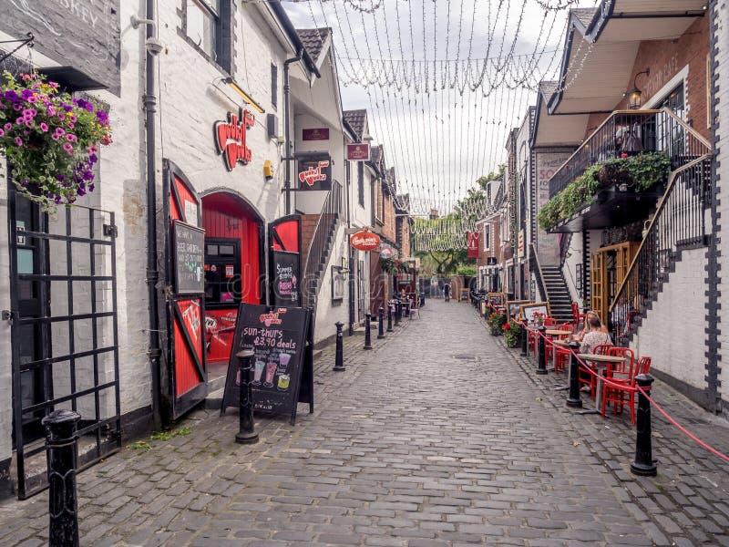 Ashton Lane, Glasgow fotografia stock libera da diritti