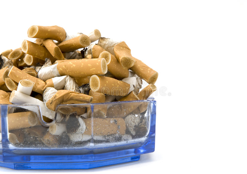 Ashtray. On a white background royalty free stock photography