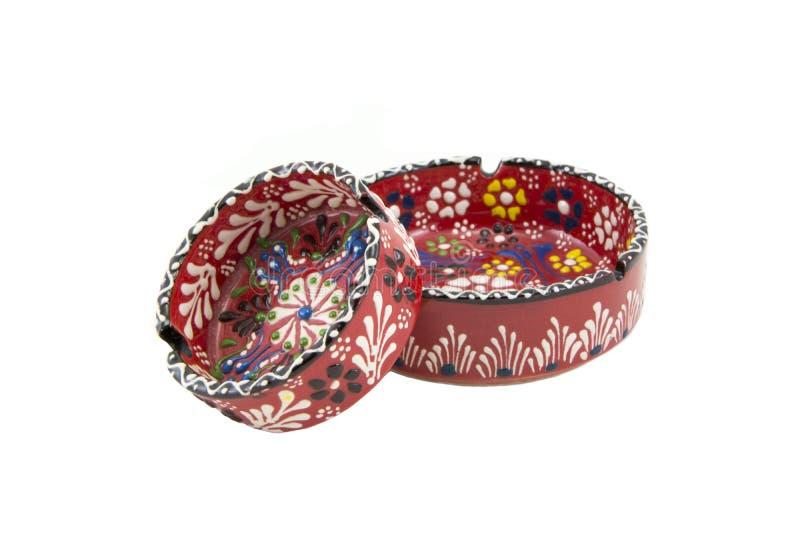 ashtray ceramiczny Indyczy Kutahya çini kà ¼ l tablası obrazy royalty free