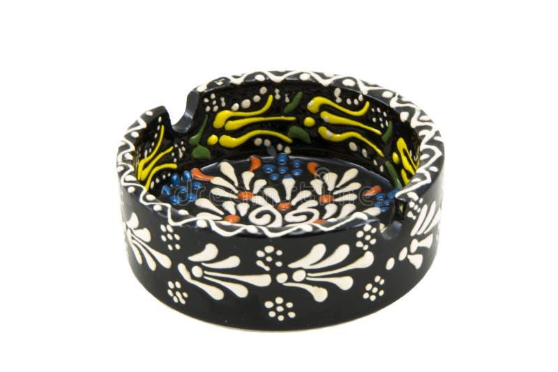 ashtray ceramiczny Indyczy Kutahya çini kà ¼ l tablası zdjęcie royalty free