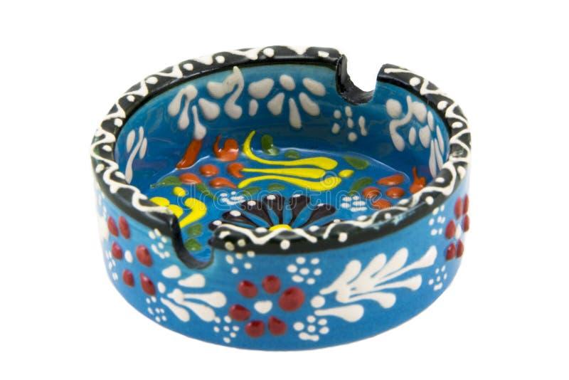 ashtray ceramiczny Indyczy Kutahya çini kà ¼ l tablası obraz stock