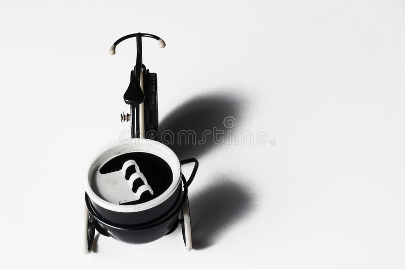 Ashtray in the form of a bicycle isolated on a white background.Copy space. Ashtray in the form of a bicycle isolated on a white background menthol clipping bad royalty free stock images