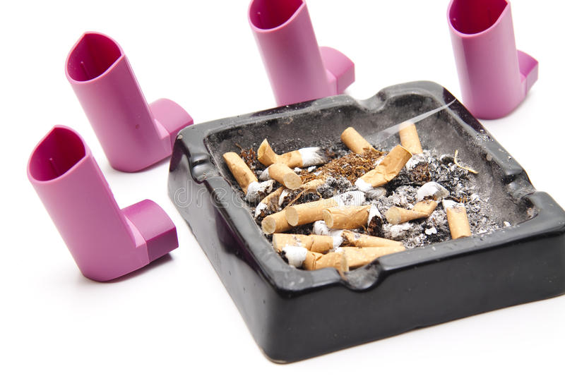 Ashtray With Inhaler Royalty Free Stock Image