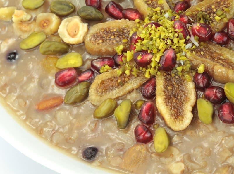 Ashura doux turc traditionnel (le pudding de Noé) photo libre de droits