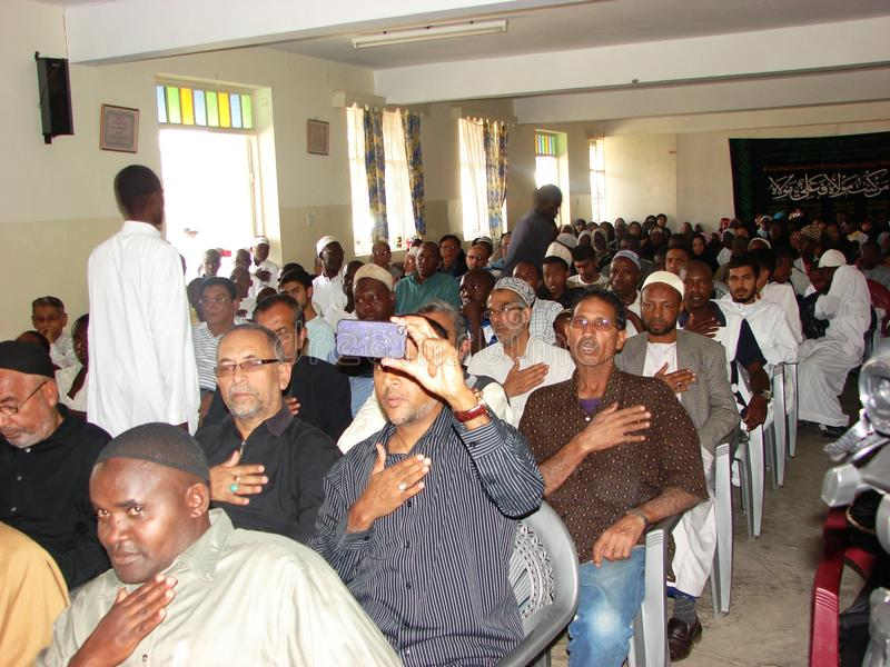 Ashura Muharram kongregation Afrika royaltyfria bilder