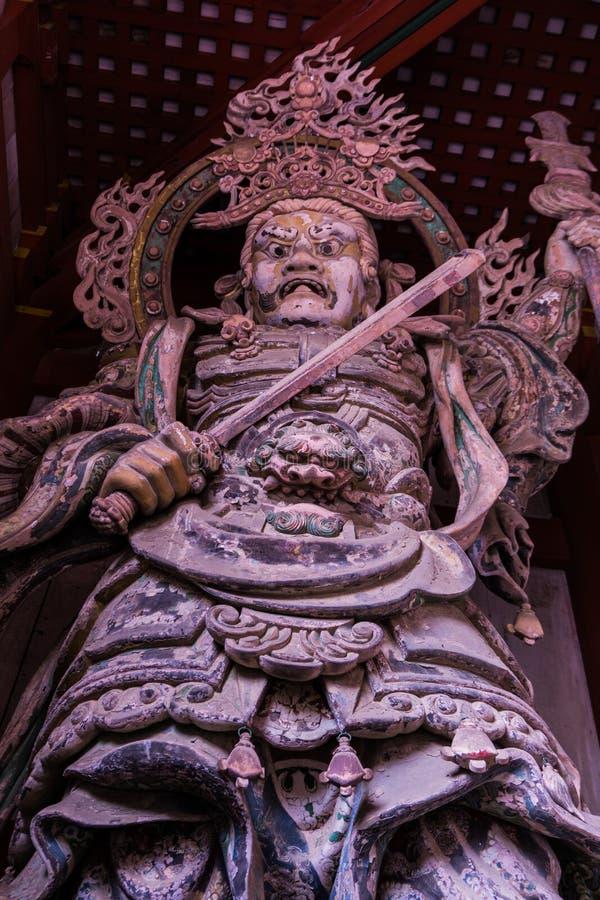 Ashura-Wächter Nara-` s größten Tempels stockbilder