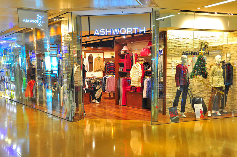 Ashworth apparel store, hong kong stock photography