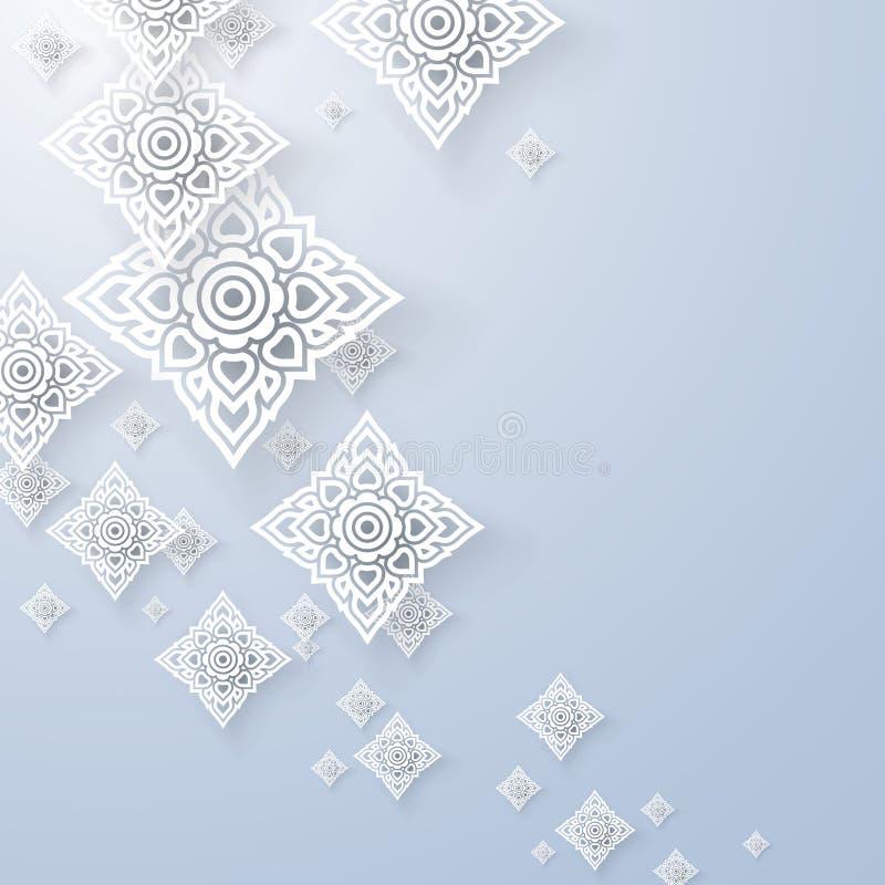 Asiático Art Background, vector tailandés del modelo del arte stock de ilustración