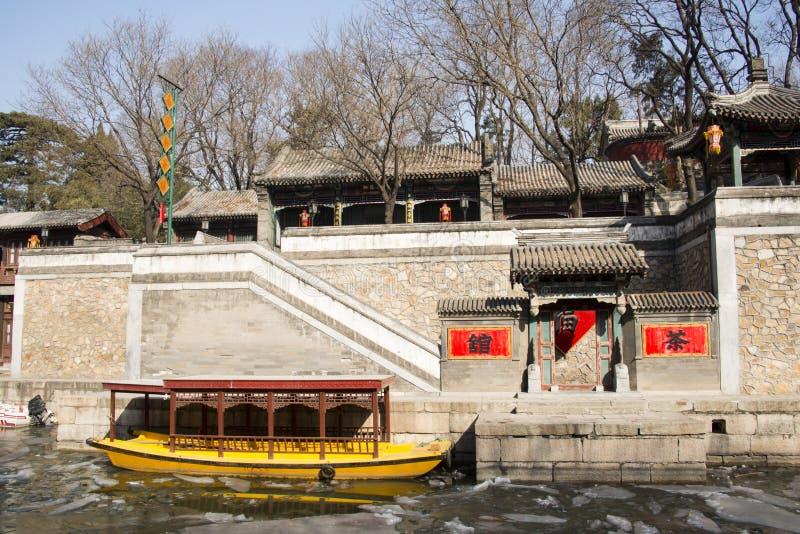 Asiático China, Pekín el palacio de verano, calle de Suzhou imágenes de archivo libres de regalías