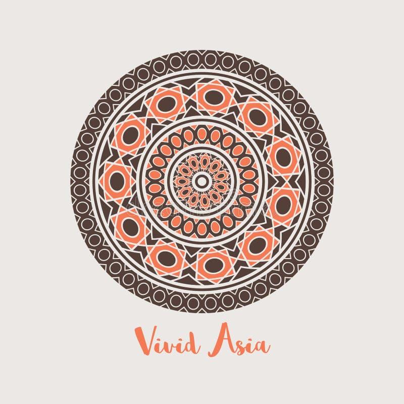 Asiático Mandala Background del vector stock de ilustración