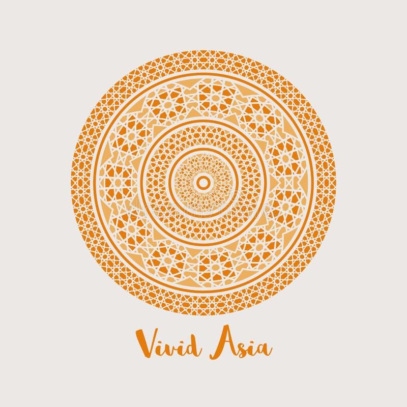 Asiático Mandala Background del vector ilustración del vector
