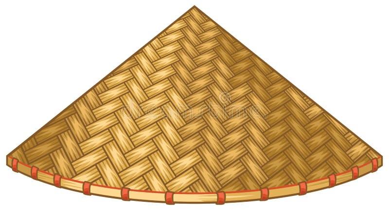 Asiático ou chapéu de palha cônico chinês ilustração stock