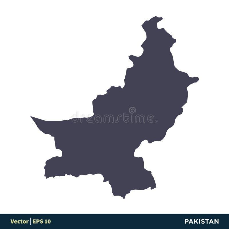 Pakistan - Asia Countries Map Icon Vector Logo Template Illustration Design. Vector EPS 10. stock illustration