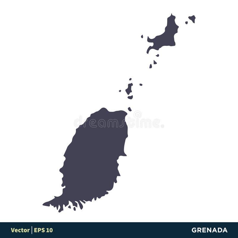 Grenada - North America Countries Map Icon Vector Logo Template Illustration Design. Vector EPS 10. stock illustration