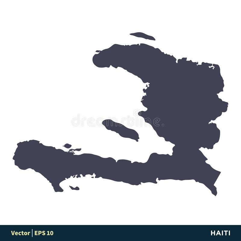 Haiti - North America Countries Map Icon Vector Logo Template Illustration Design. Vector EPS 10. royalty free illustration