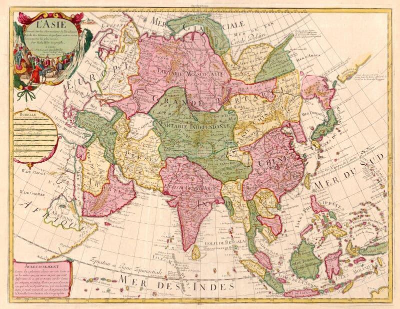 asia antyczna mapa royalty ilustracja