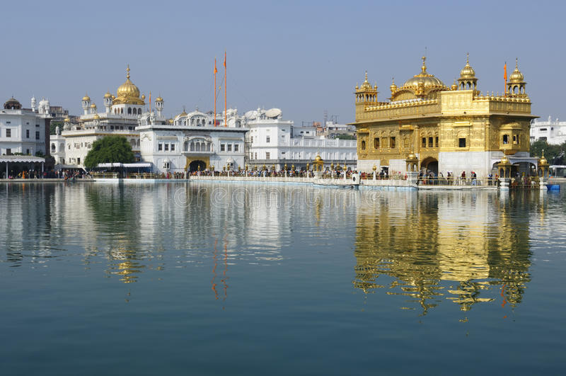 Asia art and architecture. Golden temple (Sri Harimandir Sahib) in Amritsar. It is a central religions place of the Sikhs stock photos