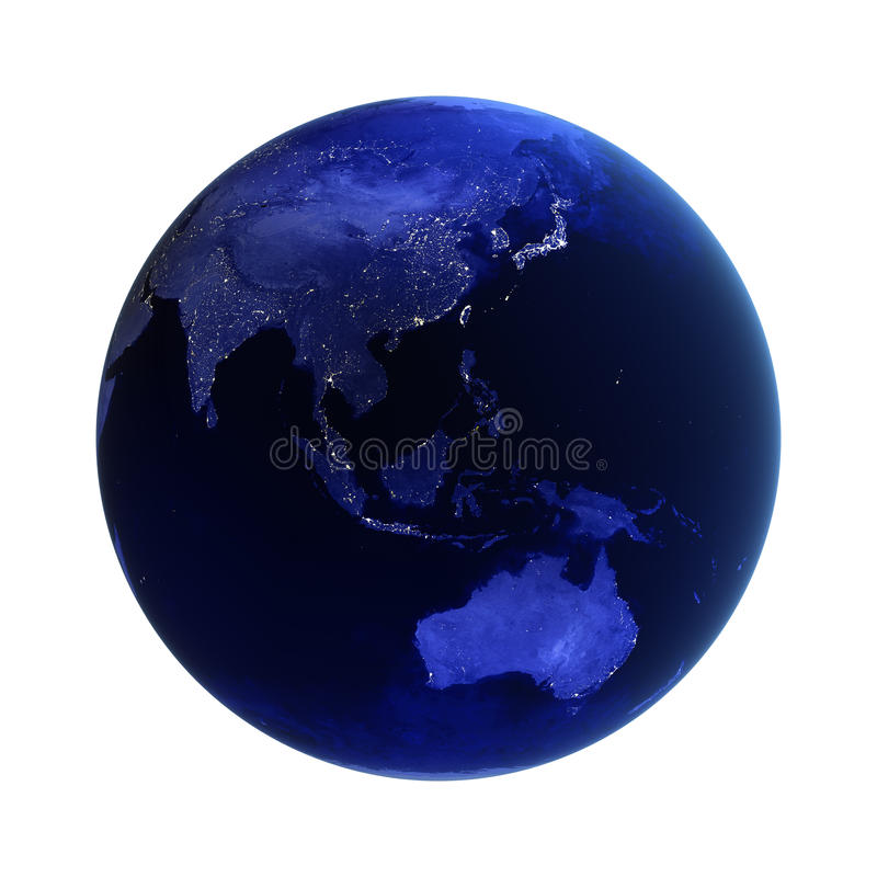 Download Asia And Australia On White Stock Illustration - Image: 17304601