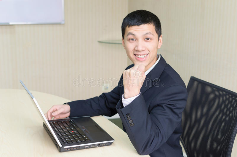 Download Asia business man stock image. Image of computer, confident - 24575533