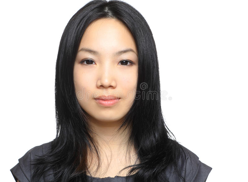 Business woman. Asia business woman with white background stock image