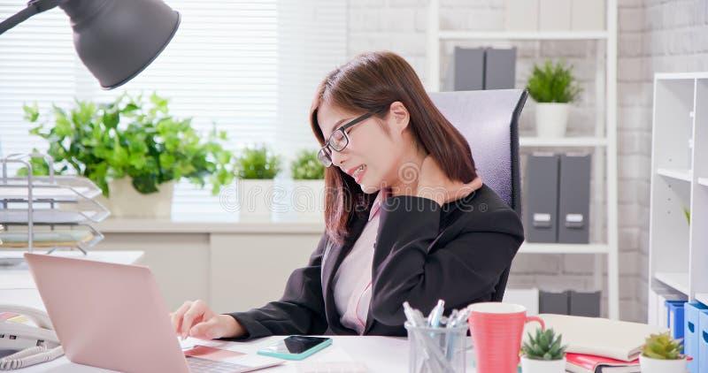 Asia businesswoman overwork royalty free stock photos