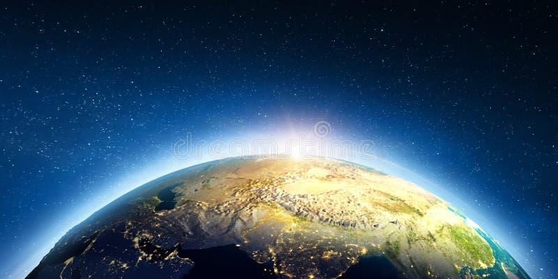 Asia Central del espacio ilustración del vector