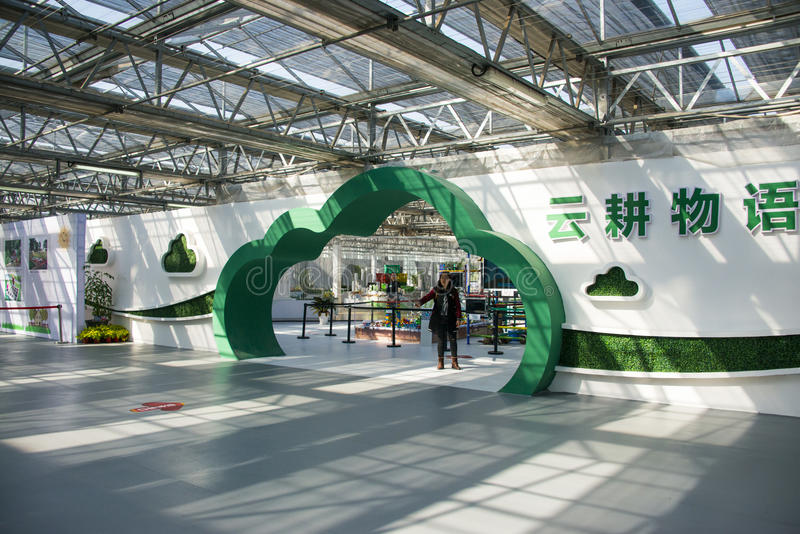 Asia China, Beijing, agricultural carnival,Indoor exhibition hall,Cloud Gate. Beijing agricultural carnival is a new exploration and practice to expand the royalty free stock images