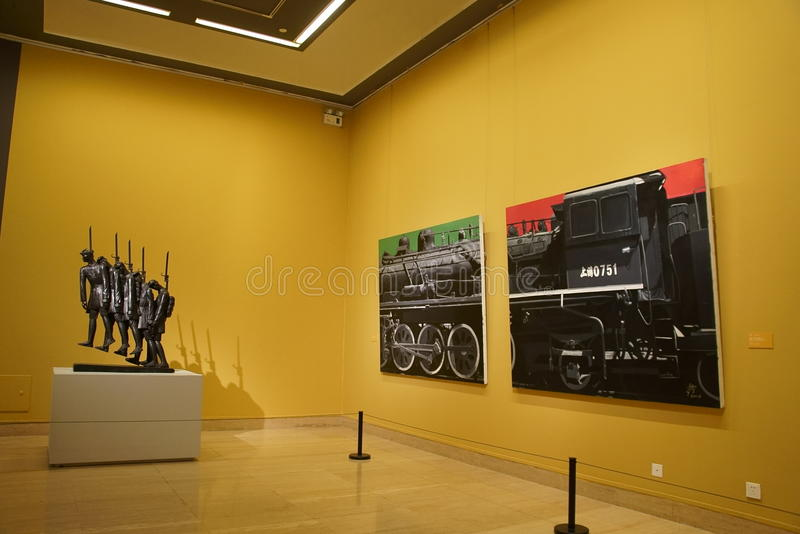 In Asia, China, Beijing, art museum, the exhibition hall layout, interior design royalty free stock photography