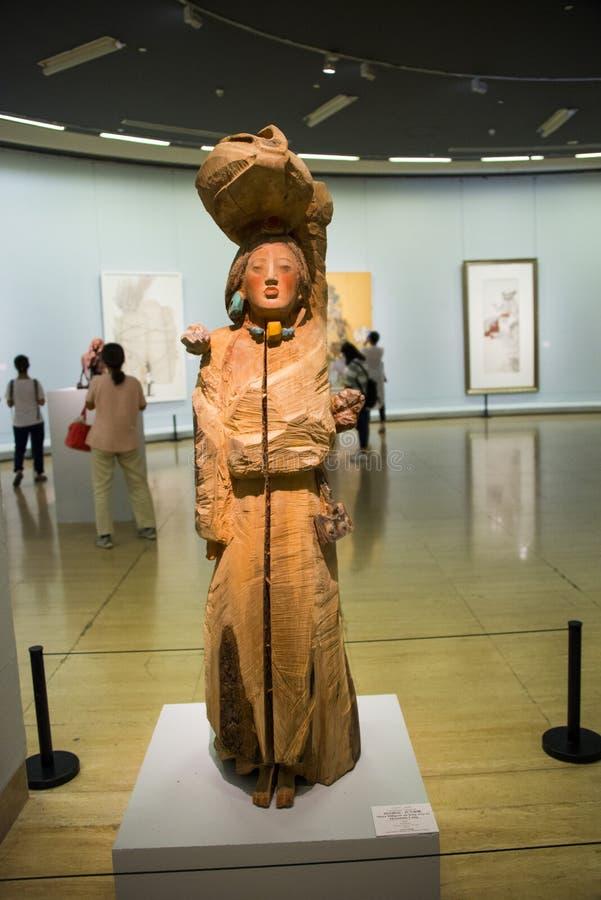 Asia China, Beijing, China Art Museum, sculpture, Tibetan girl royalty free stock photos