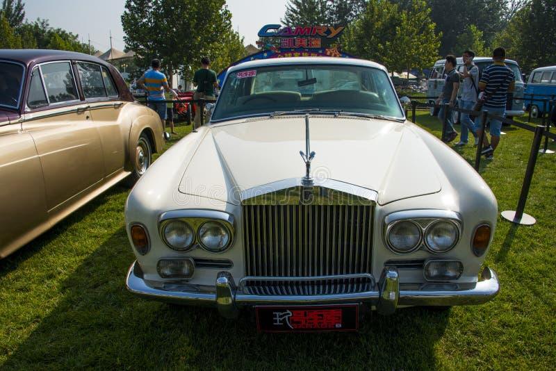 Asia China, Beijing, Classic car show,Rolls Royce Corniche car royalty free stock photography