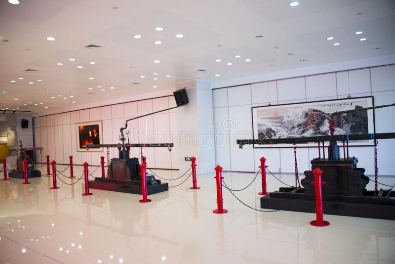 Asia China, Beijing, Fire Museum, indoor exhibition hall. China and Asia, Beijing, Fire Museum, exhibition room, lobby, exhibition hall of ancient, modern royalty free stock photography