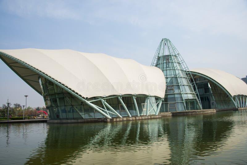 Asia China, Beijing international sculpture park, comprehensive experience pavilion. Asia, China, Beijing international sculpture park, urban leisure park stock images