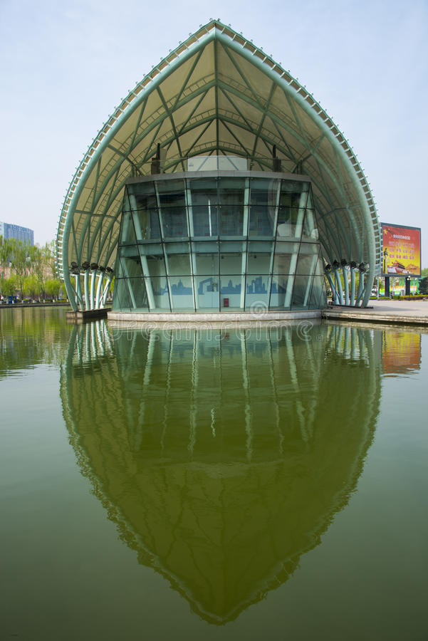 Asia China, Beijing international sculpture park, comprehensive experience pavilion. Asia, China, Beijing international sculpture park, urban leisure park stock photography
