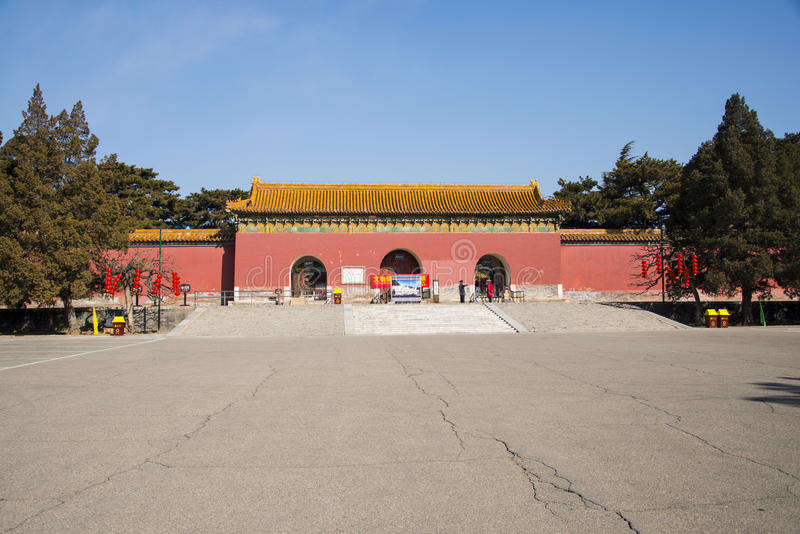 Asia China, Beijing, Ming Dynasty Tombs,Changling Mausoleum,gate. Asia China, Beijing, Ming Dynasty Tombs, Changling, the Ming Dynasty Tombs in the largest royalty free stock images
