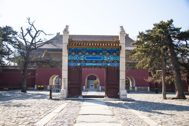 Asia China, Beijing, Ming Dynasty Tombs,Changling Mausoleum,Memorial Archway door. Asia China, Beijing, Ming Dynasty Tombs, Changling, the Ming Dynasty royalty free stock images