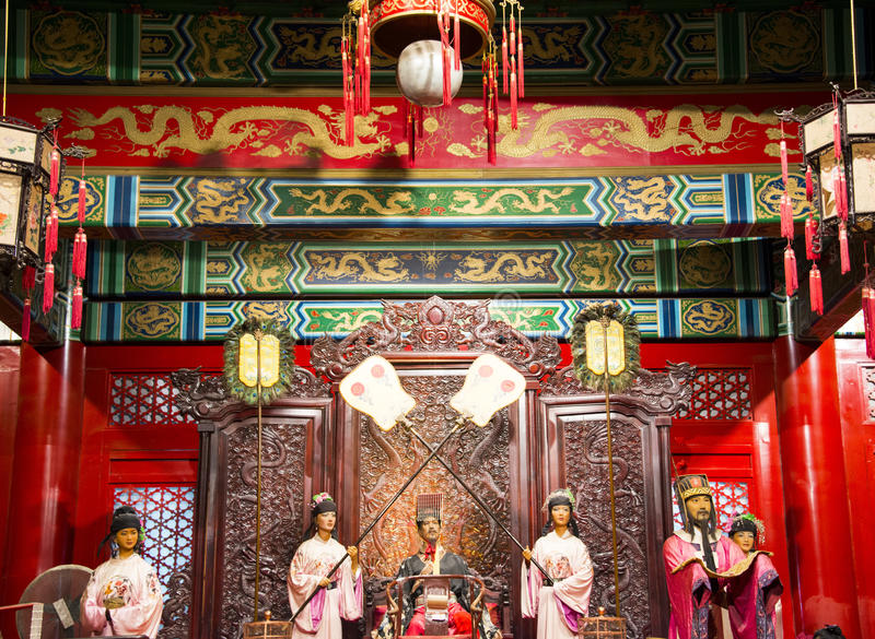 Asia China, Beijing Minghuang waxwork Palace,Historical and cultural landscape of the Ming Dynasty in China. Beijing Ming Tomb Minghuang waxwork palace, is royalty free stock image