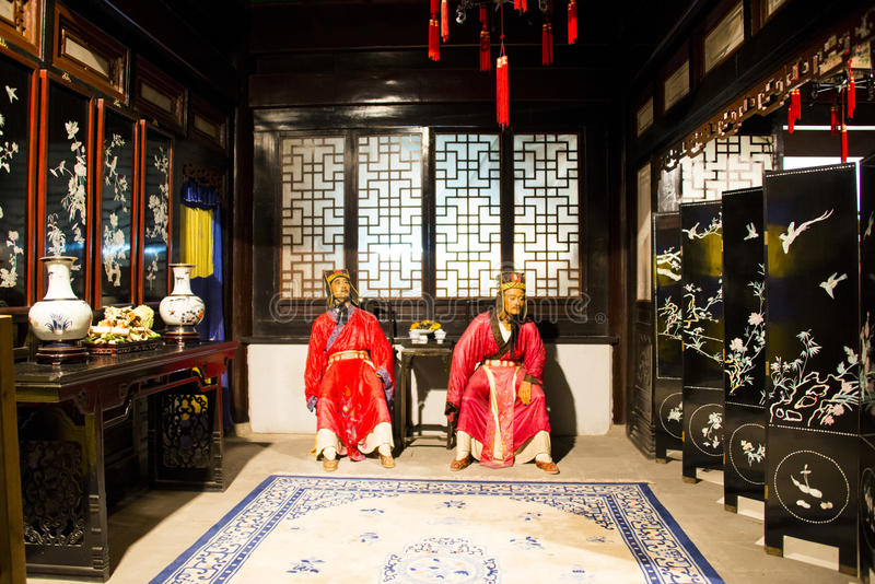Asia China, Beijing Minghuang waxwork Palace,Historical and cultural landscape of the Ming Dynasty in China. Beijing Ming Tomb Minghuang waxwork palace, is stock photos