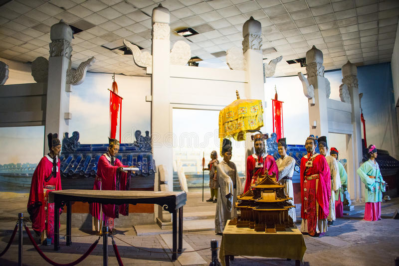 Asia China, Beijing Minghuang waxwork Palace,Historical and cultural landscape of the Ming Dynasty in China. Beijing Ming Tomb Minghuang waxwork palace, is royalty free stock photography