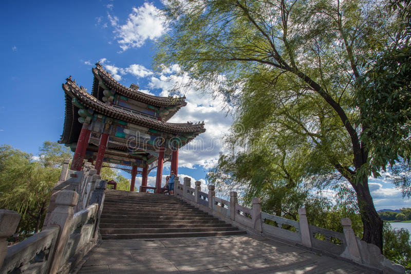 Asia China, Beijing, Old Summer Palace. Royal garden stock photo
